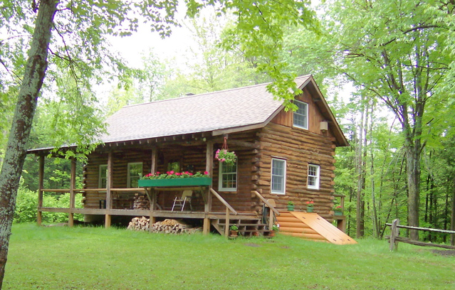 Getaway log cabin for sale by owner fsbo upper new york for Cabins new york state